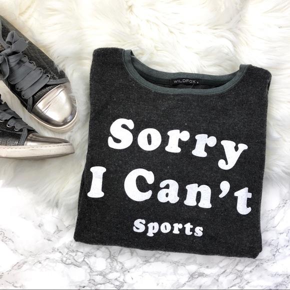 Wildfox Tops - NWOT Wildfox Sorry I Can't Sports Sweatshirt